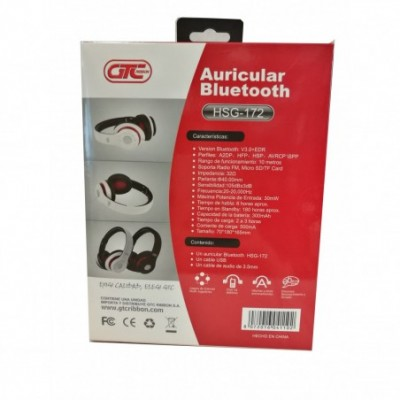 Auricular Bluetooth NEGRO con micrófono GTC