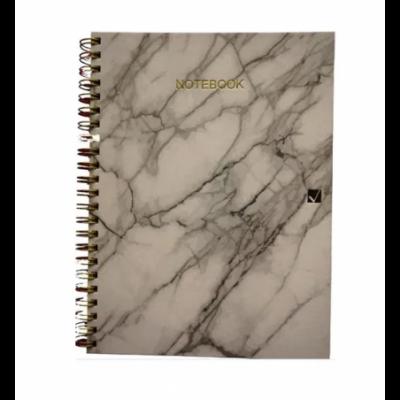 Cuaderno con espiral A4 tapa dura Marble x 150 hojas RAYADO Cita Kit