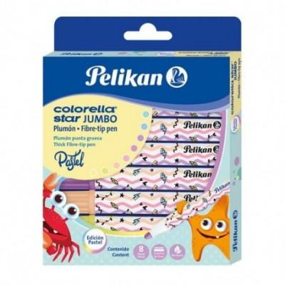 Marcadores Colorella Jumbo x8 colores Pastel Pelikan