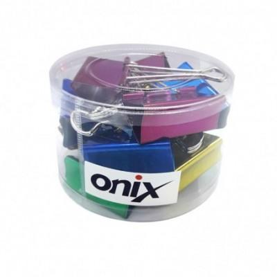 Binder Clip 51 mm COLOR METALIZADO Pote x12 unidades Onix