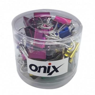 Binder Clip 19 mm COLOR METALIZADO Pote x40 unidades Onix