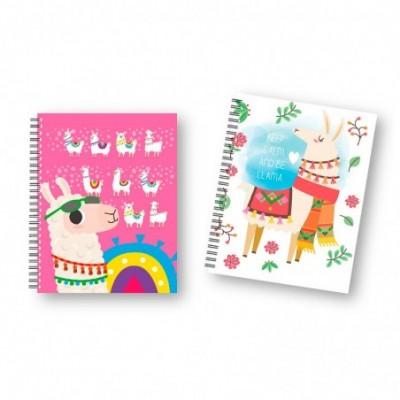 Cuaderno 16x21 cm RAYADO Tapa dura con elástico Shiny x96 hojas Onix