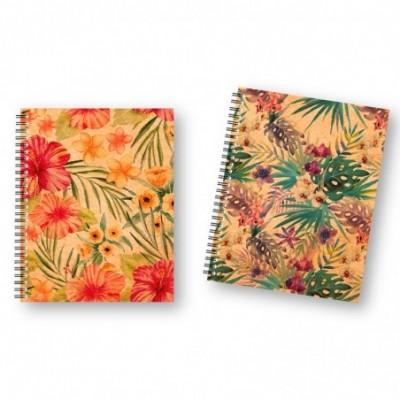 Cuaderno 16x21 cm RAYADO Tapa dura con elástico Nature Kraft x96 hojas Onix