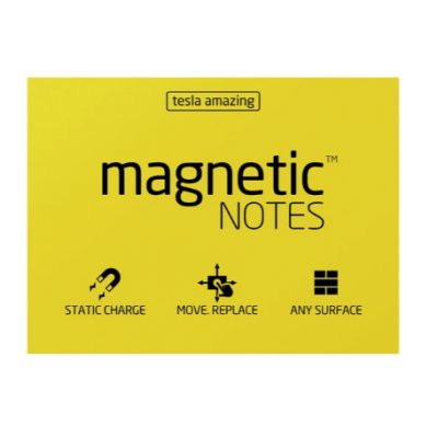 Magnetic Notes 100x70 mm AMARILLO x100 hojas Memo Fix