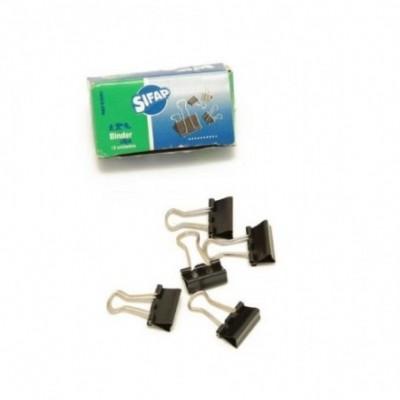 Binder Clip 15 mm cajita x12 unidades Sifap