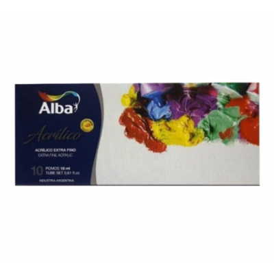 Set Acrílico Profesional Extrafino de 18 ml estuche x10 unidades Alba