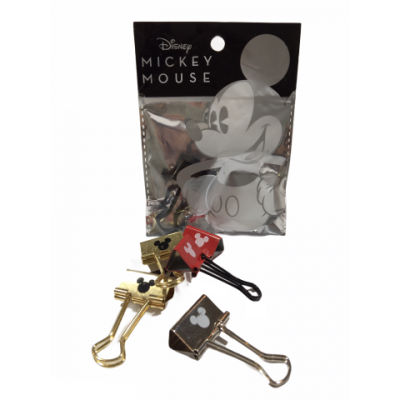 Binder Clip 25 mm MICKEY MOUSE x6 unidades Mooving