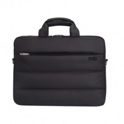 Maletín Hombre Porta Laptop NEGRO 15,6 pulgadas 2 cierres externos Onix