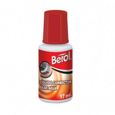 Corrector Liquido al Agua x17 ml Frasco Berol