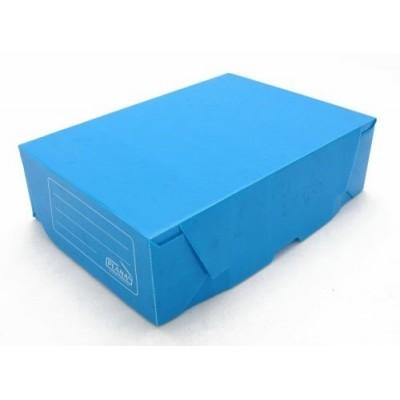 Caja archivo de plastico legajo 12 tapa volcada Azul Plana