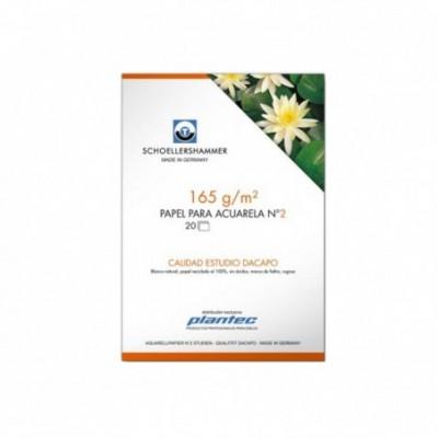 Block Acuarela 17x25 cm DACAPO de 165 gramos x20 hojas Schoellershammer