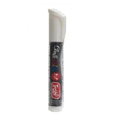 Marcador Chalk Glass 4-6 mm BLANCO doble punta Trabi