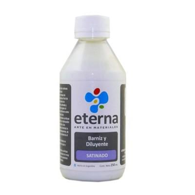 Barniz y diluyente al agua satinado 250 ml Eterna