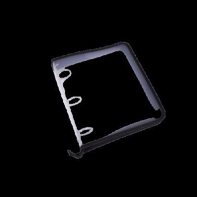 Carpeta 3 anillos 40 mm plastica lisa con cierre Rideo Transparente