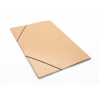 Carpeta 3 solapas oficio plastificada con elastico Marrón Tandil