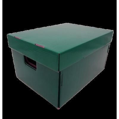Caja de archivo americana alta 42x32x25 cm verde