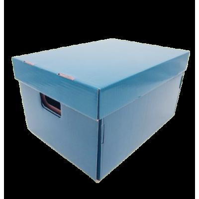 Caja de archivo americana alta 42x32x25 cm celeste