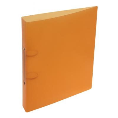 Carpeta A4 2 anillos de 40 mm plastica lisa Naranja Rideo