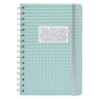 Cuaderno A5 Bullet Journal Diamante Menta Mooving