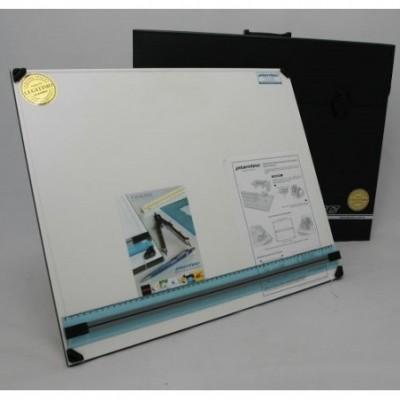 Tablero portatil 50 x 60 cm con atril 5 posiciones+portatablero Plantec