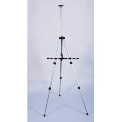 Atril de aluminio telescópico tres patas negro 15182 Erika