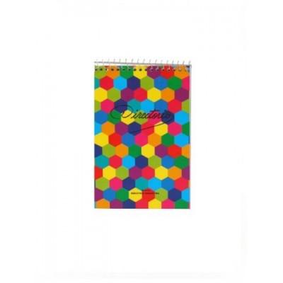 Block con espiral 11x17 cm LISO x50 hojas Directorio