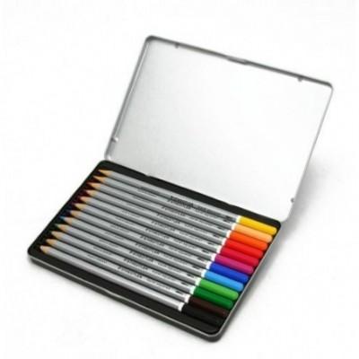 Lápices Acuarelables Karat Aquarell x12 colores lata Staedtler