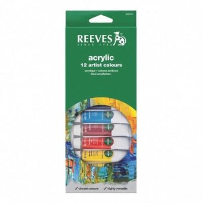 Acrílico x12 colores en pomo 10 cc Reeves