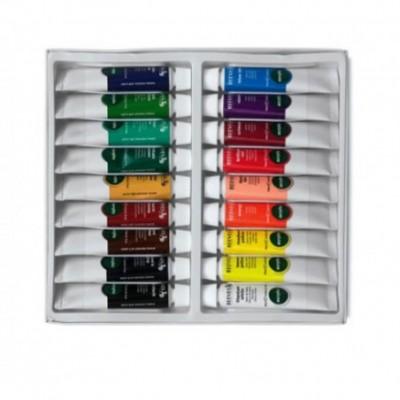 Acrílico x18 colores en pomo 10 cc Reeves