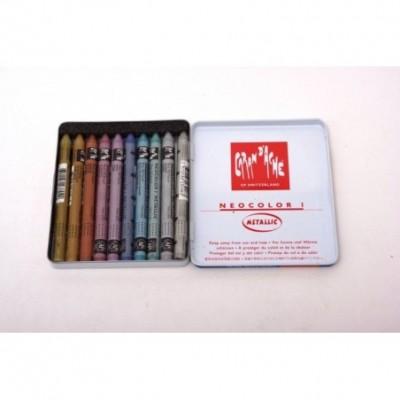 Crayon neocolor lata x 10 Metálicos CD'A