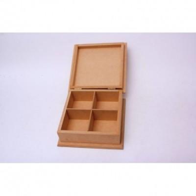 Caja de té Eco 4 Div. 20x14x8,5cm El Tigre