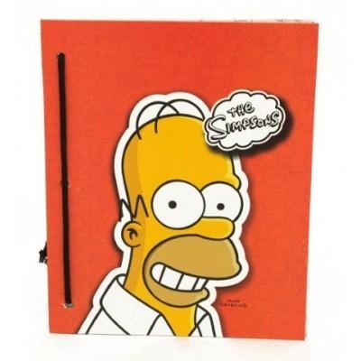 Carpeta  nº 3 con cordon cartone Simpsons