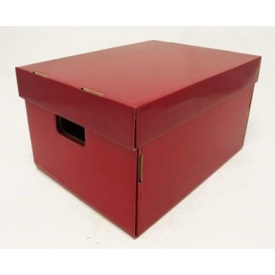 Caja de archivo americana alta 42x32x25 cm bordo