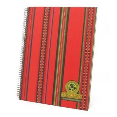 Cuaderno con espiral A4 tapa dura Etnica x 96 hojas rayado Rec Roll