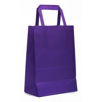 Bolsa regalo acuario Violeta 14x8x20cm Romi Pack