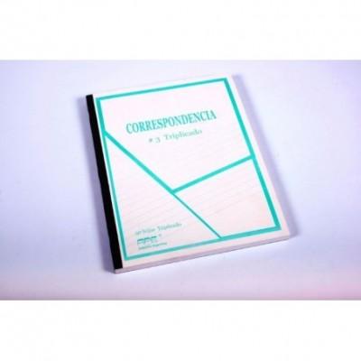 Cuaderno correspondencia nº 3 triplicado x 50 hojas