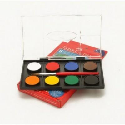 Acuarelas x 8 colores Faber-Castell