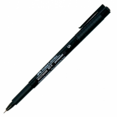 Marcador permanente Multimark 421-S NEGRO extra fino Faber Castell