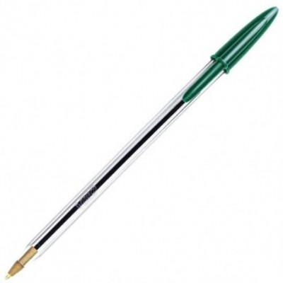Bolígrafo Cristal VERDE 1 mm BIC