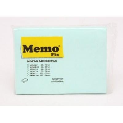 Nota adhesiva 101x74 mm x100 hojas PASTELES surtidos Memo Fix