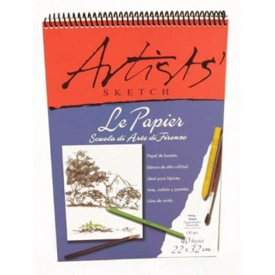 Block artists espiralado 22 x 32 cm - 140grs 30 hjs Le Papier