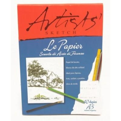 Block artists emblocado A5 - 110grs 40 hjs Le Papier