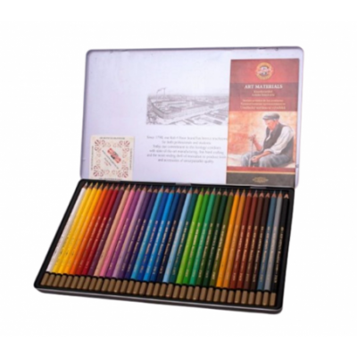 Lápices Acuarelables Mondeluz x36 colores Lata de lujo Koh-I-noor