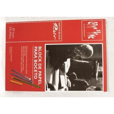 Block Pablo para boceto con espiral 35x50cm 30 hjs 180grs CD'A