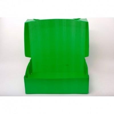 Caja archivo de plastico oficio 12 tapa volcada Verde Plana