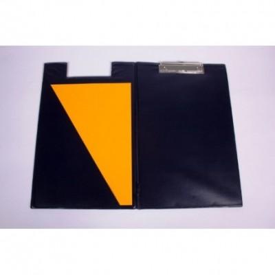 Portablock oficio de PVC Azul con tapa y bolsillo interno Liggo
