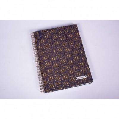 Cuaderno con espiral A4 tapa dura Nirvana x 150 hojas cuadriculado Cita Kit Modelo 3
