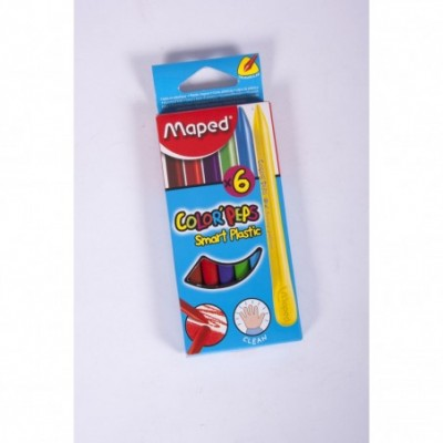 Plastipinturitas x 6 colores cortos Color Peps