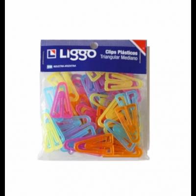 Clips triangular mediano  x25 unidades Liggo