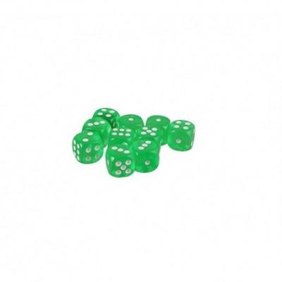 *  dado 19 mm acrilico transparente verde